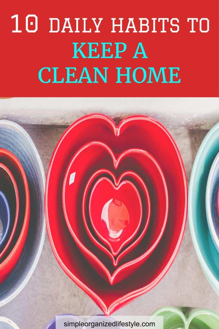 10 Daily Habits to Keep a Clean Home Pin