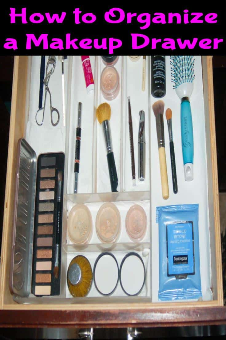 How to Organize a Makeup Drawer with Bare Escentuals