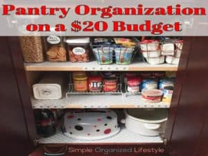 Pantry Organization on a Budget