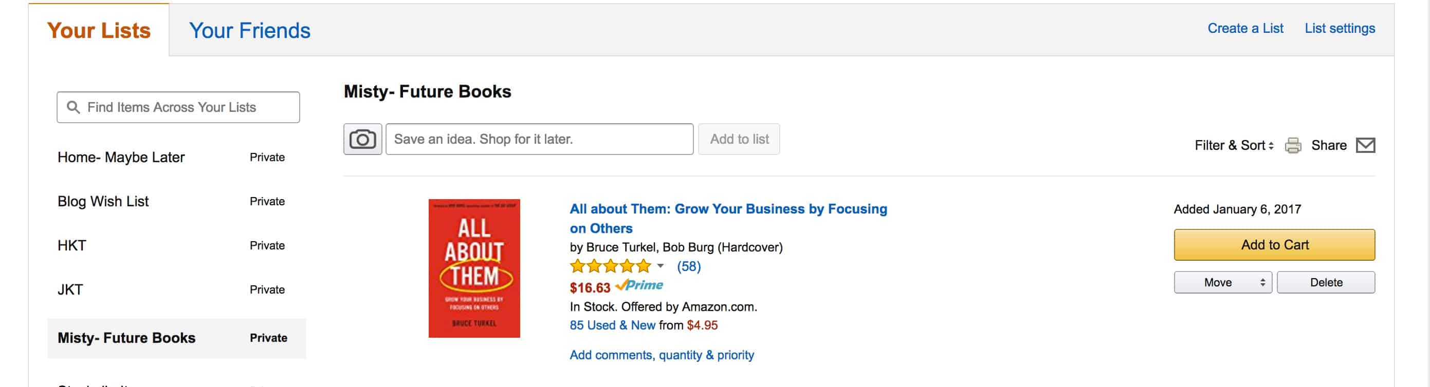Amazon Future books list example
