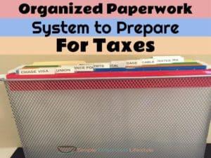 Organized Paperwork