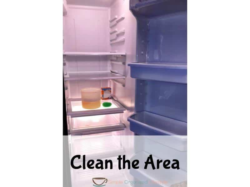 organize any space step 3- clean the area