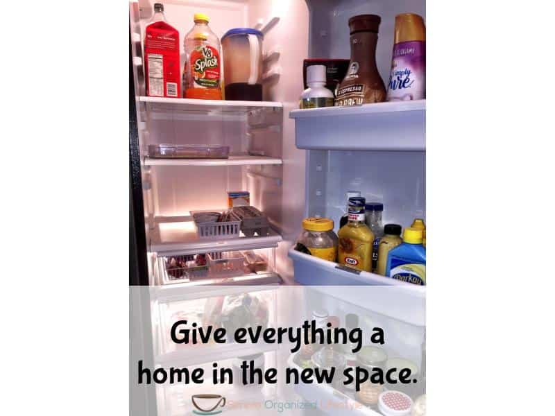 organize any space step 5- give everything a home in the new space
