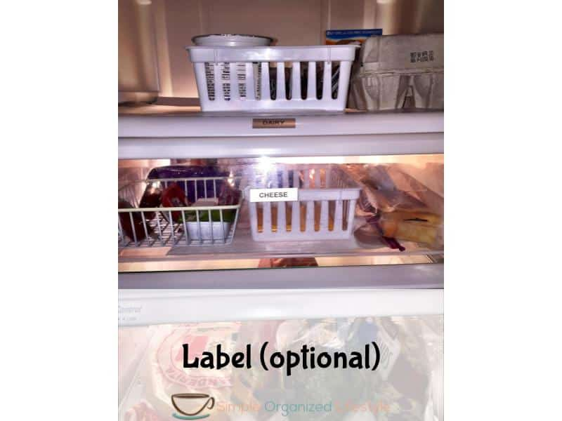 organize any space step 6- label