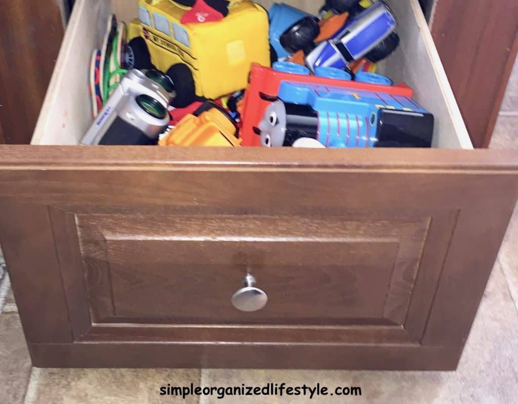 toy drawer for RV organization and storage