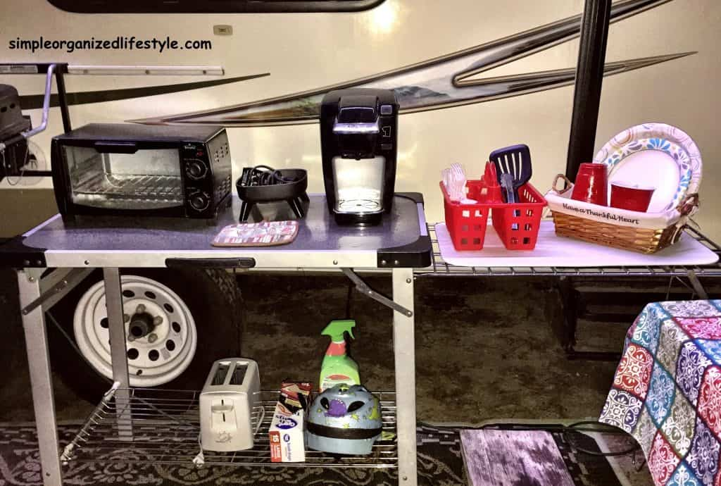 RV outdoor portable camper table