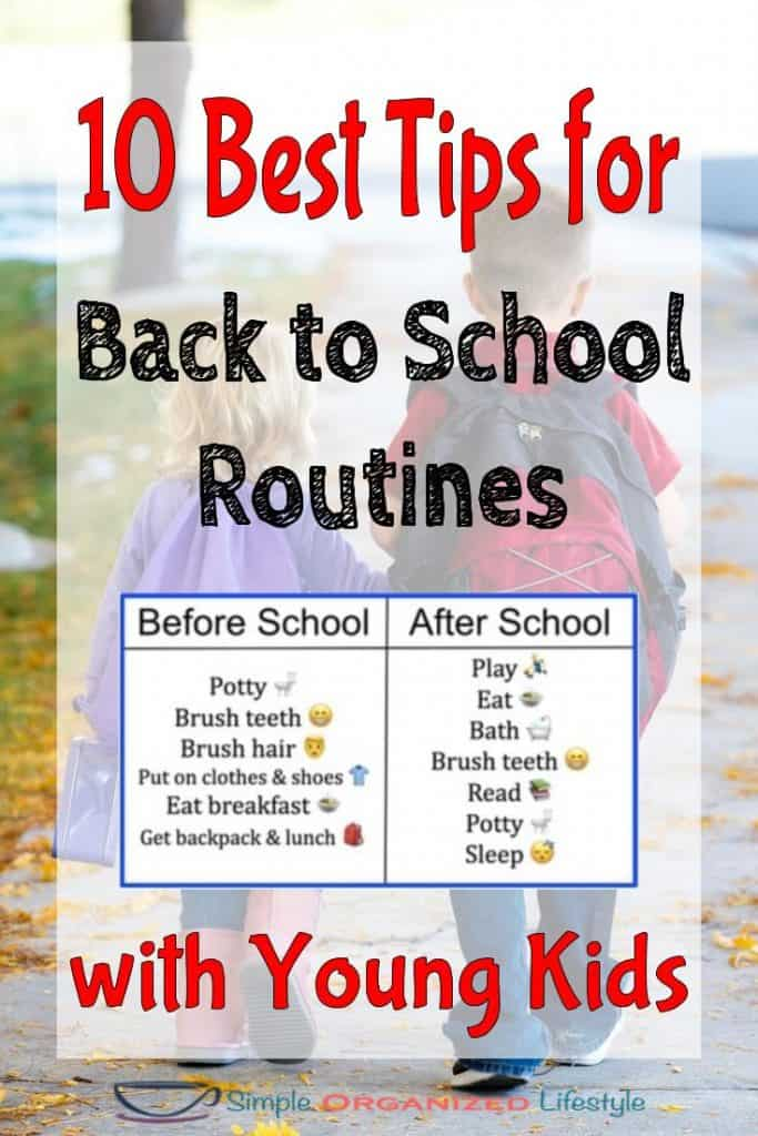 best tips back to school routines for young kids