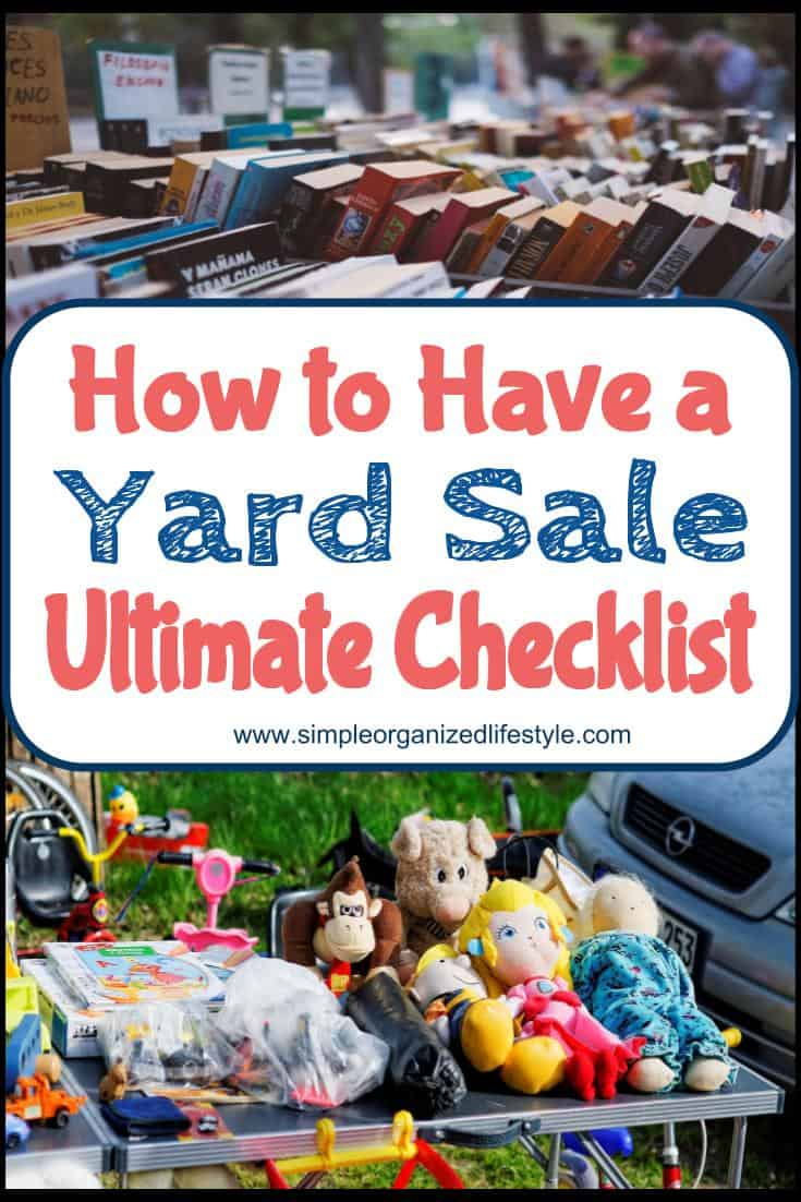 How to Have a Yard Sale Ultimate Checklist