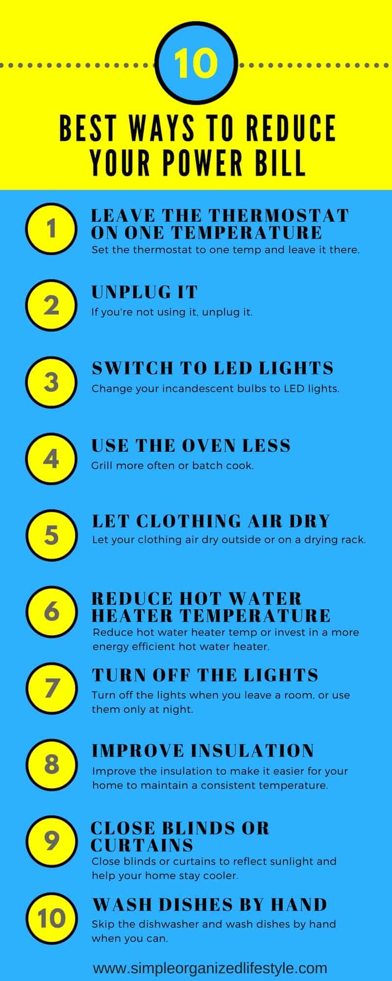 10 Best Ways to Reduce Your Power Bill