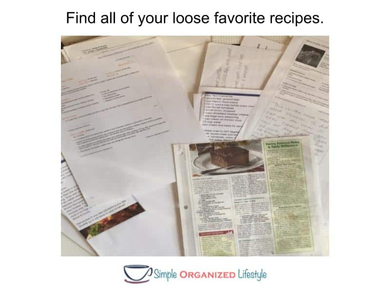 How to Organize Recipes in a Binder- Find recipes
