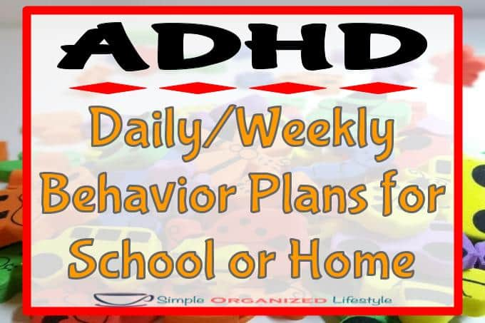 ADHD: Daily or Weekly Behavior Plans for School or Home FI