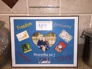 Financial Freedom Vision Board Frame
