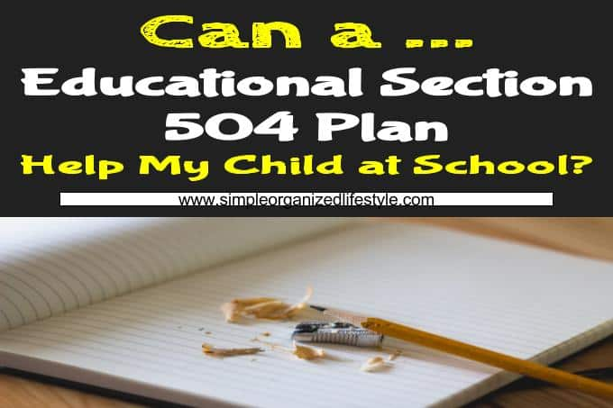 Educational Section 504 Plan