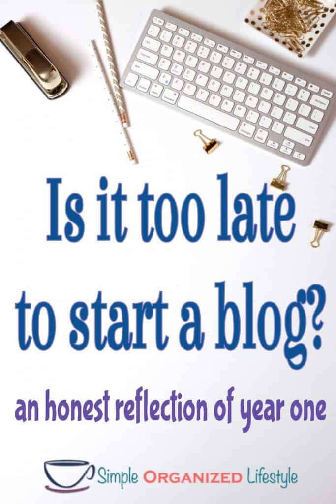 Is it too late to start a blog? Pin