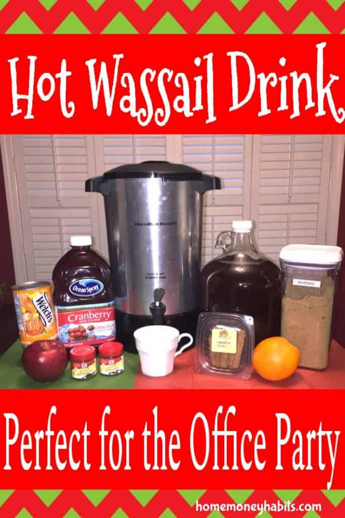 Hot wassail drink ingredients