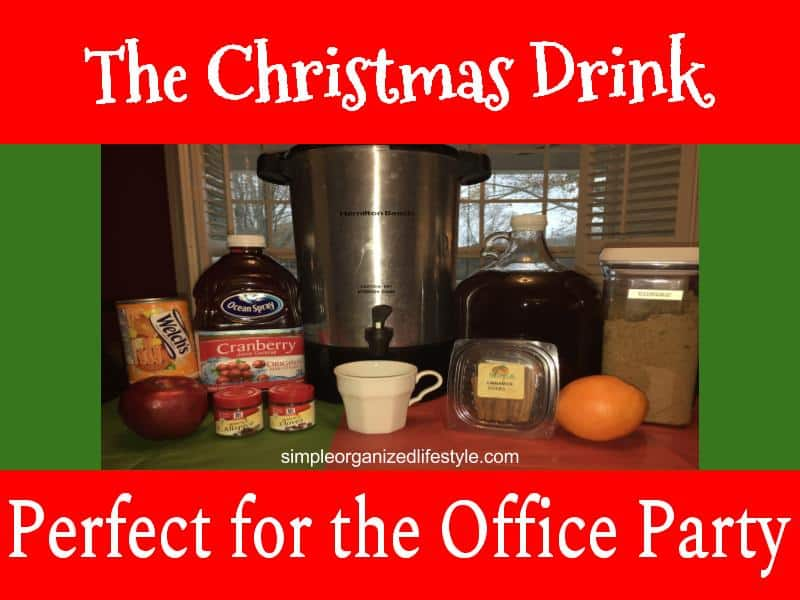 Christmas Drink Wassail for Office Party
