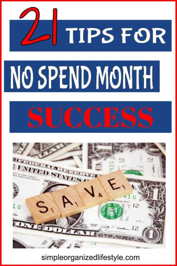 Tips for no spend month