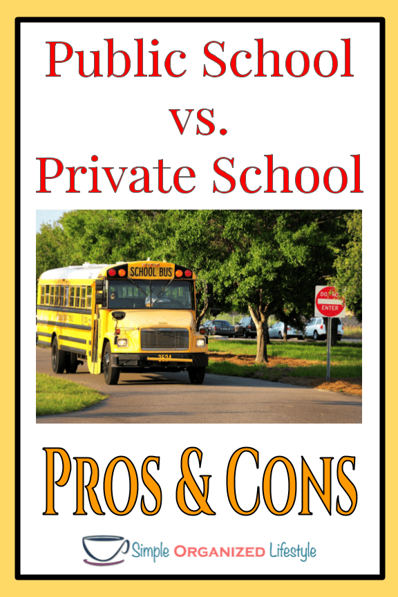 Article on pros & cons of public vs. private school