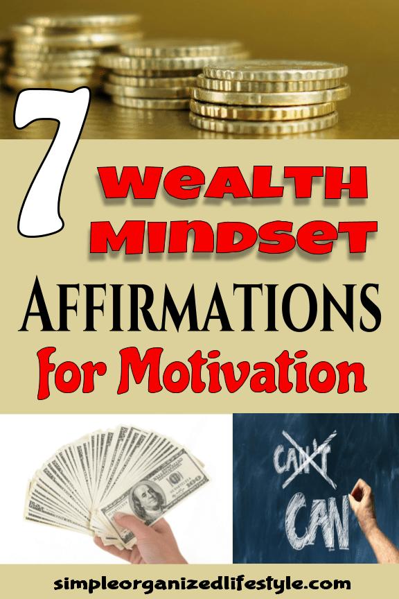 Wealth mindset affirmations for motivation
