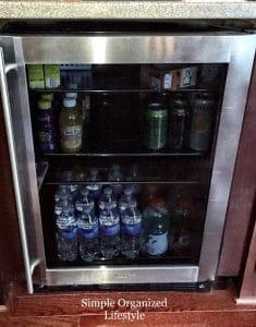 Beverage station fridge