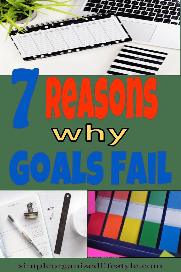 Reasons Why Goals Fail