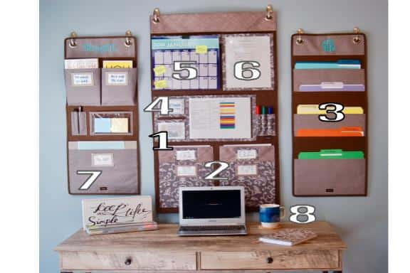 Organized desk and files
