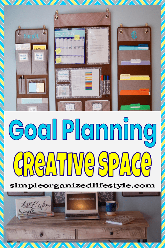 Organized desk and writing area for goal planning