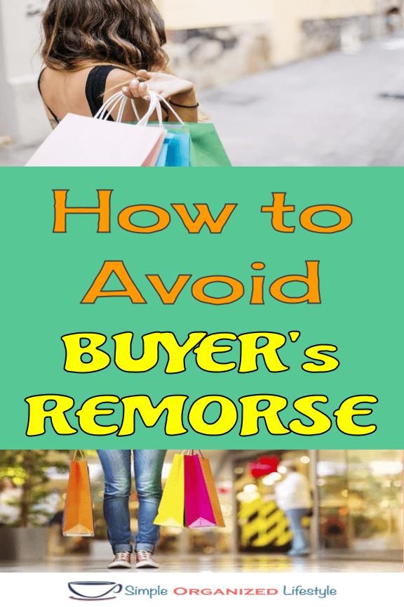 Shopper's avoiding impulse buys
