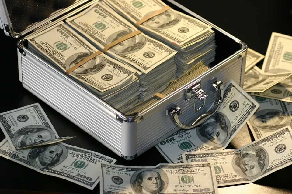 Cash box full of cash