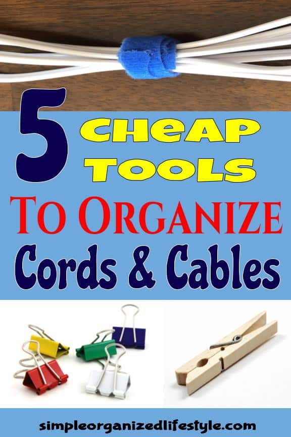 How to Organize Cords & Cables