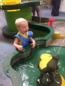 Water exhibit at children's museum