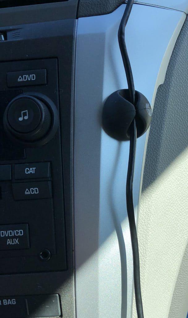 Car cord organizer clip
