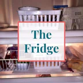 """Inside refrigerator with text overlay that reads """"The Fridge"""""""
