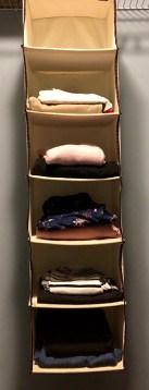 Hanging cubes in closet