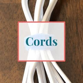 Cords wrapped with velcro