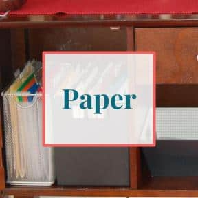 Papers organized in file folders