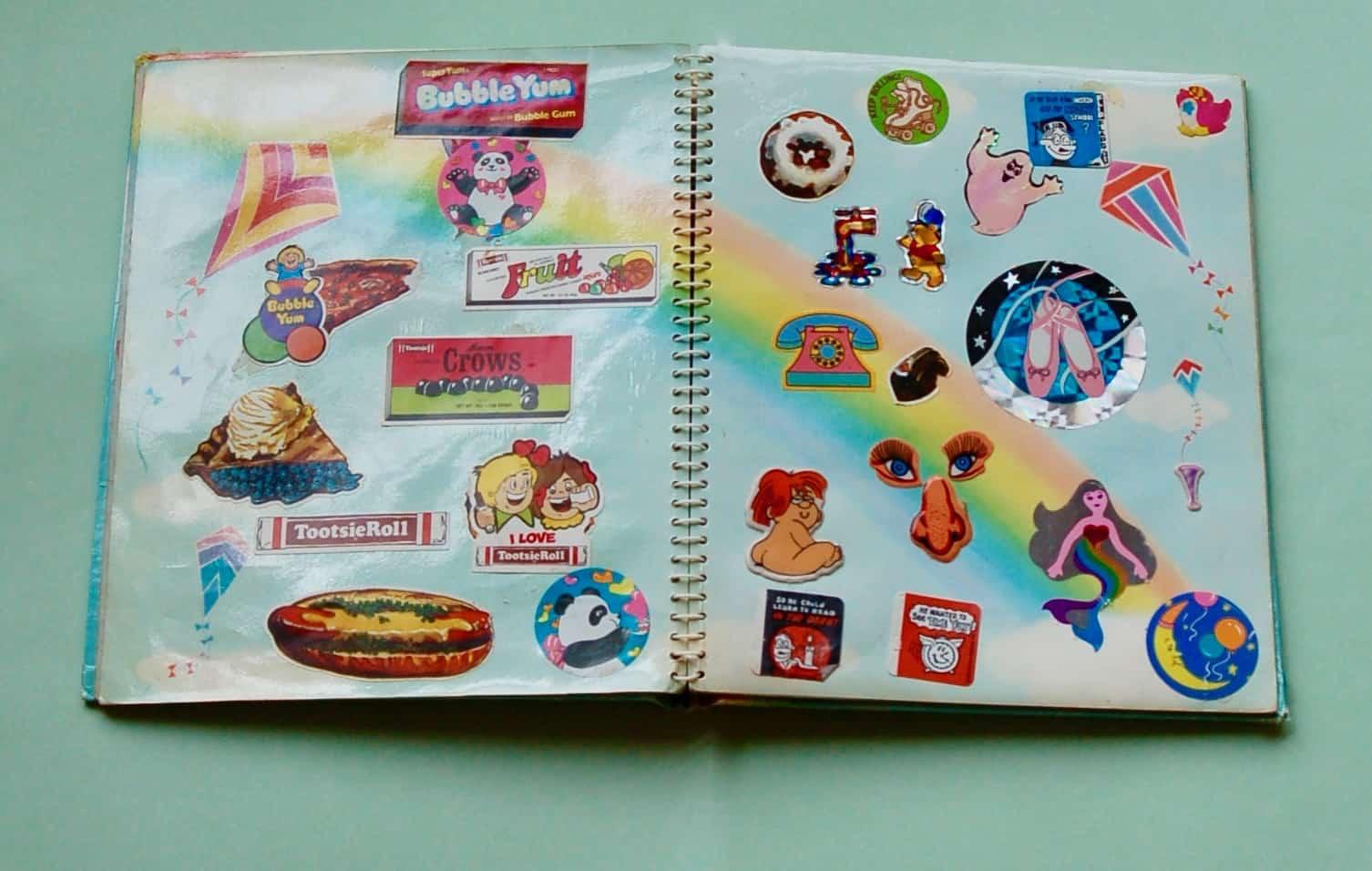 vintage sticker book