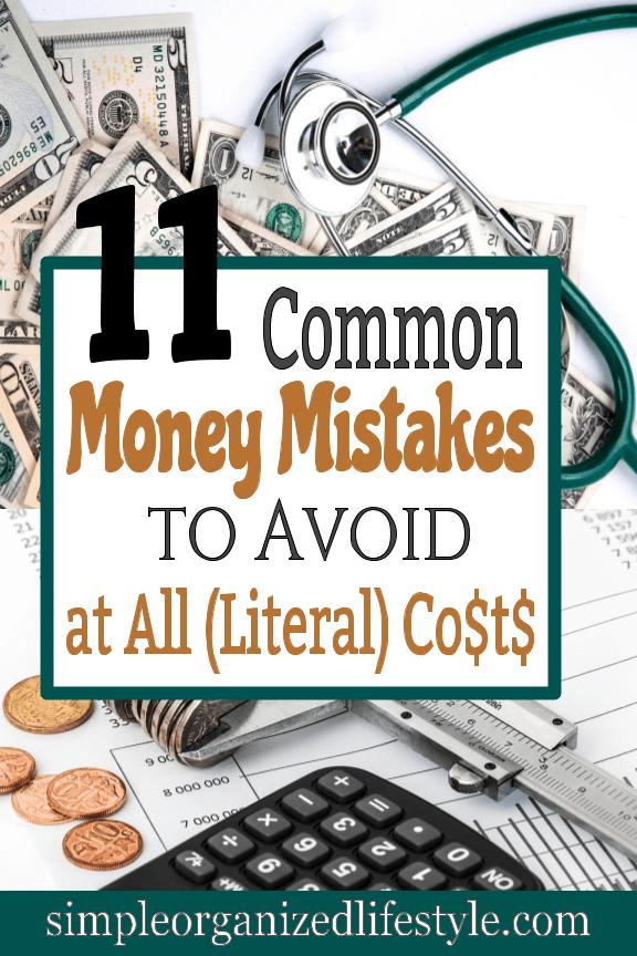 Common Money Mistakes to Avoid
