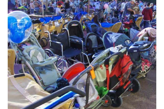 Strollers at Disney World