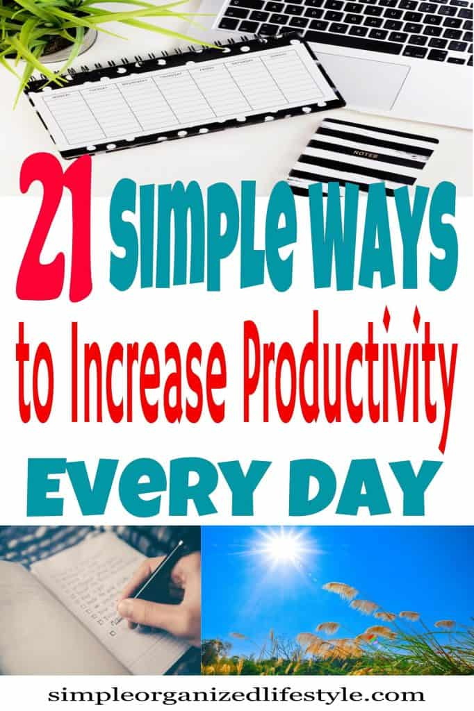 Ways to increase productivity